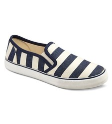 Mossimo Women's Loretta Sneakers - Blue Stripes - Size: 8