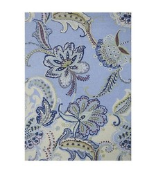 Boho Boutique Floral Wool Area Rug - Size: 5'x7' - Blue Multi