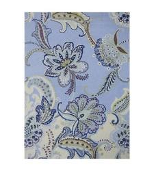 Boho Boutique Floral Wool Area Rug - Size: 7'x10' - Blue Multi