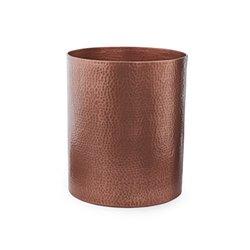 Sur La Table Hammered Copper-Plated Utensil Crock