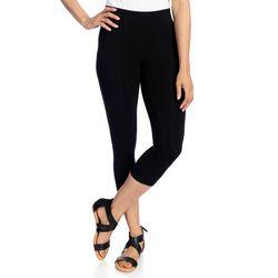 Kate & Mallory Women's Knit Pull-on Capri Leggings - Black - Size: XL