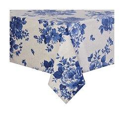 """Sur La Table Blue Floral Teflon Tablecloth - 54"""" x 120"""""""