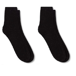 Merona Women's Casual Ankle Socks Pack of 2 - Black - Size: 4-10