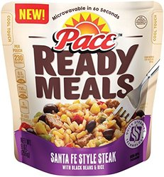 Pace Ready Meals Santa Fe Style Steak with Black Beans & Rice - 9 oz