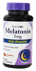 Natrol - Melatonin Fast Dissolve Strawberry - Tablets natural, 3 mg, 90