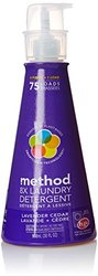 Method 8x Concentrated Laundry Detergent, Lavender Cedar, 75 Loads