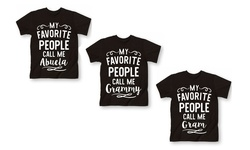 "Lc Trendz Women's ""My Favorite...Grammy"" T-Shirt - Black/White - Size: 3X"