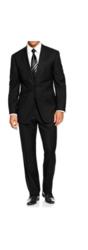 Braveman Men's Classic Fit 2-piece Suit - Black - Size: 38S x 32W