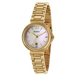 Women's Watch: Gold/mother Of Pearl-diamond