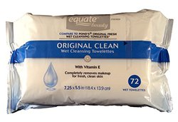 Equate Original Clean Wet Cleansing Towelettes with Vitamin Twinpack