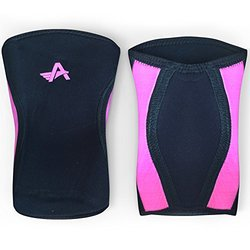 Athlos Fitness Knee Sleeves (pair) Compression - Black/Pink - Size: M