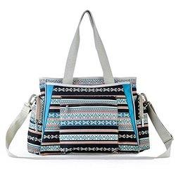 CY Bohemian Baby Bag Nappy Bag Stylish Totes Diaper Bag - Dark Blue