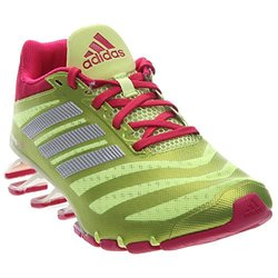 adidas Performance Women's Springblade W Running Shoe,Frozen Yellow/Bold Pink/White,11 M US