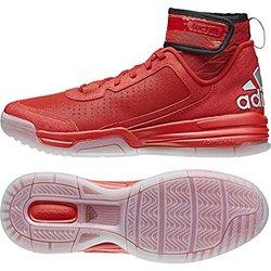 Adidas Men's Dual Threat BB Basketball Scarlet/Black/White 9.5 D(M) US