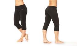 Marika Women's Magic Tummy Control Capri Leggings - Black - Size: Large