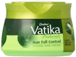 Dabur Vatika Naturals Hair Fall Control Styling Hair Cream - Olive cactus, 210 ml