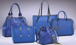 Dasein Maron Collection: Leather  - Buckle Satchel Blue
