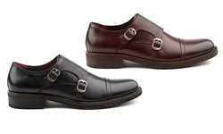 The Mock Monk Strap Shoe: Burgundy/ 8