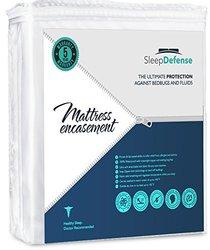 Sleep Defense Premium 100% Waterproof/Bed Bug Proof Noiseless Mattress Encasement, Fully Protect Your Mattress from Bed Bugs, Fluids, Mites and Allergens, Queen Standard