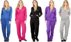 Lyss Loo Women's Plus Size Velour Tracksuit (2-Piece) - Royal - Size: 2x
