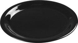 """Carlisle Sierrus 9"""" Wide Rim Melamine Dinner Plate -Black (3301203)"""