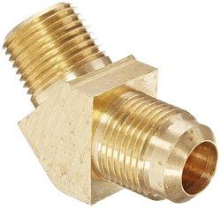 "Eaton Brass CA360 SAE 45 Degree Elbow - 1/2"" NPT Male x 5/8"" SAE Male"