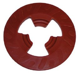 """3M 4 """" Extra Hard Disc Pad Face Plate Ribbed - Red (28656)"""