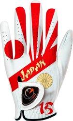Men's Left Handed Flag of Japan Golf Glove - White - Size: XXL