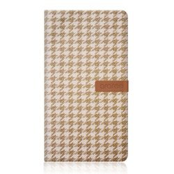 Arareee Neat Diary Case for Galaxy Note 3 - Houndstooth Beige