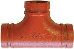 """Shurjoint #7120 Ductile Iron Tee - Galvanized - Size: 2.5"""""""