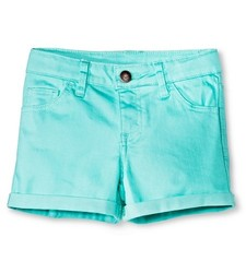 Cherokee Girl's Low Rise Jeans Short - Green - Size: XS