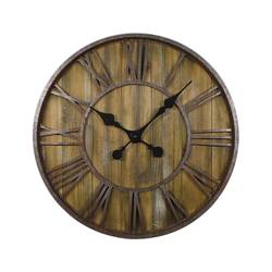 Threshold Wood Wall Clock with Metal - Size: 23""