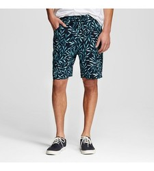 Mossimo Men's Palm Print Shorts - Navy - Size: XL