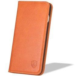 Shieldon Genuine Leather Case Flip Case - Cognac Brown