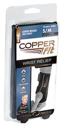 Copper Fit Copper Infused Set Of Two Compression Wrist Sleeves Left L/xl