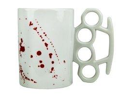 Knuckle Duster Blood Spattered Mug