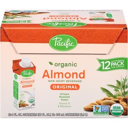 Pacific Foods Organic Almond Beverage - Original - 8 Fl Oz - 12 Count