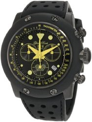 Race Track Chronograph Dial Black Silicone black