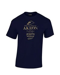NCAA Akron Zips Stacked Vintage T-Shirt, XX-Large, Navy