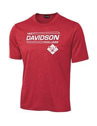 NCAA Davidson Wildcats University Tech Performance T-Shirt, Small, Red