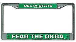 "NCAA Delta State Chrome Frame, 15 x 8"", Logo Color"