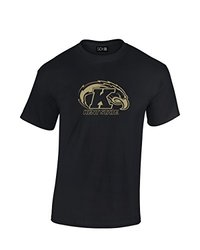 NCAA Kent State Golden Flashes Mascot Foil Short Sleeve Tee, X-Large, Black