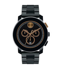 Movado Bold Chronograph 43.5mm Black Watch