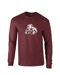 NCAA Mississippi State Bulldogs Mascot Foil Long Sleeve T-Shirt, X-Large, Maroon