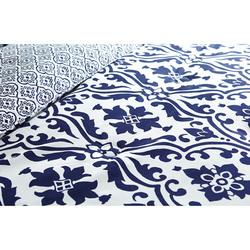 BHG 5-Piece Scrollwork Modern Bedding Comforter Set - Indigo - Size: King