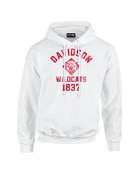 NCAA Davidson Wildcats Mascot Block Arch Long Sleeve Hoodie, Large, White