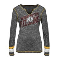 NFl Women's Washington Redskins T-Shirt - Black Staccato/Yellow Gold - L