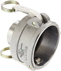 "PTC 3"" Coupler x 2"" NPT Male Aluminum Reducer Cam & Groove Hose Fitting"