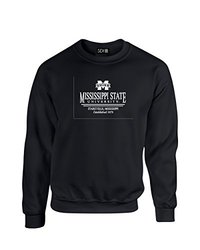 NCAA Mississippi State Bulldogs Classic Seal Crew Neck Sweatshirt, X-Large, Black