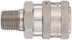 "Hansen 1/4"" Port Stainless Steel Ball Lock Hydraulic Fitting (LL2S15)"